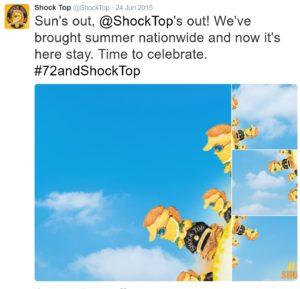 shocktop social media storytelling